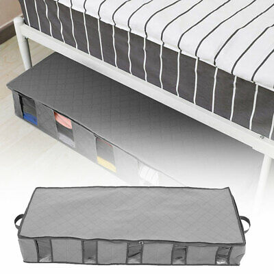 Large Capacity Under Bed Storage Box 5 Compartment Clothes Organiser Bags Case • 9.32£