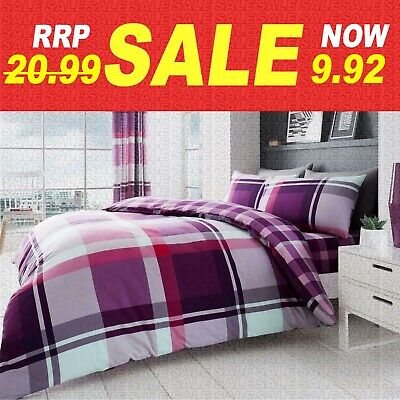 KING SIZE BEDDING SET | Modern Duvet Cover Pillowcase | Extra Soft Quilt Covers • 11.99£