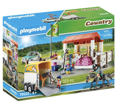 Playmobil Infant Country Farm Play Set 70325 Stables With 4 Figures And 3 Horses • 54.89£