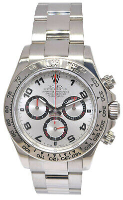 $ CDN39467.42 • Buy Rolex Daytona 18k White Gold Silver Dial Chronograph Watch Box/Papers D 116509