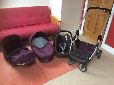 ICandy Cherry 3-1 Travel System - Mulberry, Easy To Use, In Excellent Condition • 80£