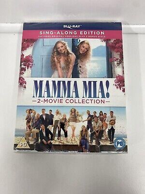 Mamma Mia! 2-Movie Collection – Sing-Along Edition -Blu-ray -New And Sealed • 7£