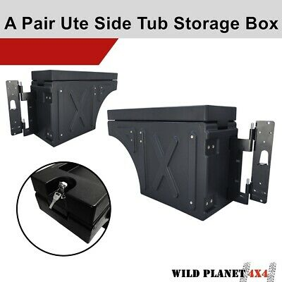 AU345.95 • Buy Ute Tub Universal Lockable Side Tool Box Storage Pair