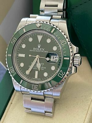 $ CDN13289.58 • Buy Rolex Hulk Submariner Date Green 116610LV 2013  BOX AND PAPERS