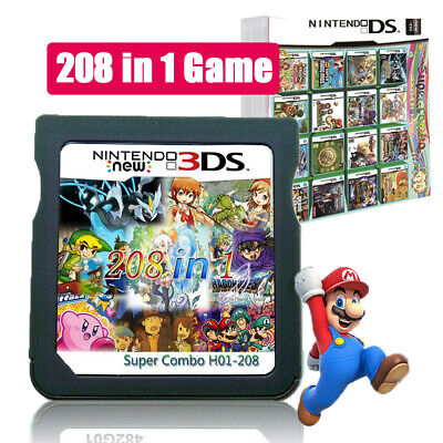 UK 208 IN 1 Game Cartridge For Nintendo NDS NDSL 3DS 3DSLL/XL NDSI Pokemon Mario • 12.55£