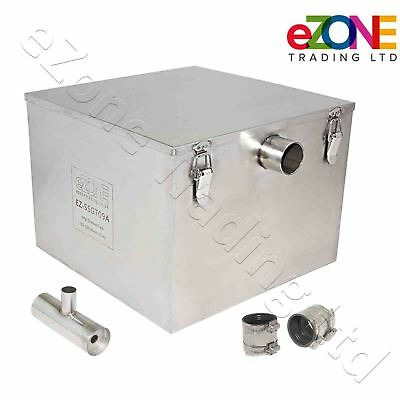 £229.99 • Buy Commercial Grease Trap 55 Litre Catering Waste Fat Oil Filter Stainless Steel