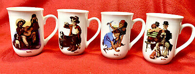 $ CDN10.96 • Buy Vintage Norman Rockwell Coffee Cups Mugs Set Of 4 Museum Collection 1982
