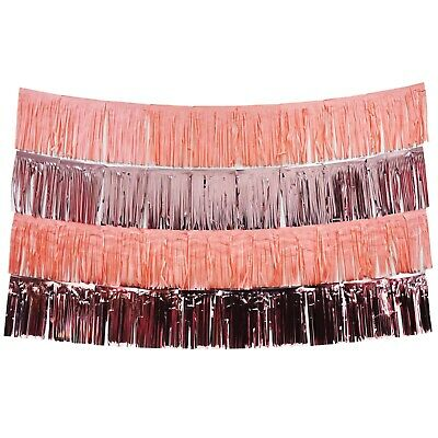 Blush Pink And Rose Gold Fringe Tassel Banners 8 Feet X 14 In Party Decoration • 13.02£