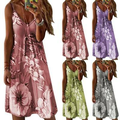 UK Women Autumn Boho Midi Dress Lady Floral Party Beach Dresses Colors Oversize • 12.19£