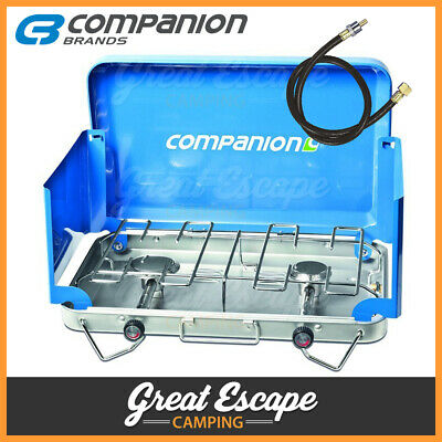 AU84.90 • Buy Companion Ranger 2 Burner Stove - Companion 2 Burner Gas Stove