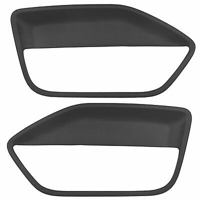 $72 • Buy BLACK ABS For FORD MUSTANG 2005 -2009 Pair Interior Door Panel Insert Hard Cover