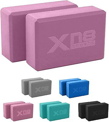 XN8 Yoga Blocks Pilates Foaming Foam Brick Gym Home Fitness Exercise Stretching • 9.99£
