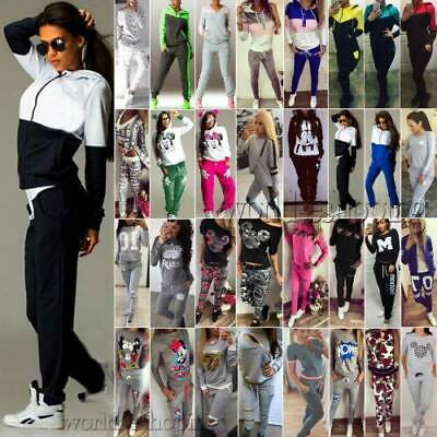 Women's Tracksuits Sweatshirt Jogging Pants Sets GYM Sportswear Fitness Suits UK • 16.79£