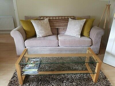 Marks And Spencer Colby Coffee Table Excellent Condition Glass And Oak • 132£