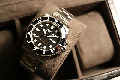 $ CDN454.43 • Buy 40mm Black Submariner SKX007 Ceramic Dive Watch Mod Sapphire Seiko NH36 Mov't