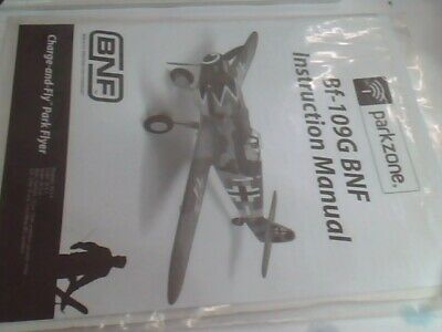£10.61 • Buy Used Operation & Parts Manual Suit BF-109G Parkzone