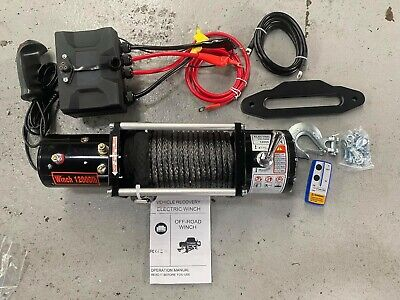 AU499 • Buy 4x4 ,truck  12v Electric Winch 12000lb,synthetic Rope, Remote,