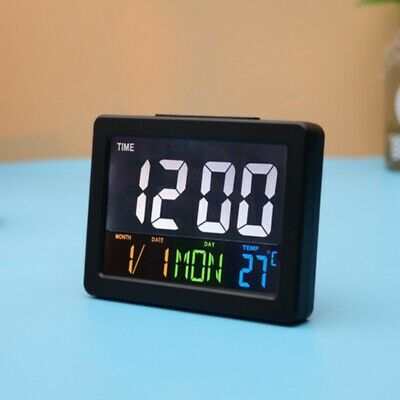 Digital LED Display Alarm Clock With Temperature Weather Calendar Alarms Beside • 15.99£