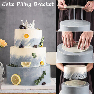 £4.63 • Buy Multi-layer Cake Stands Support Frame Spacer Round Piling Bracket WIth Straws~