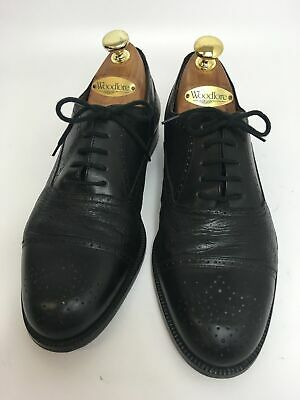 Mens Bally Black Leather Lace Up Smart Formal Work Shoes Brogues Uk 7 G • 39.99£