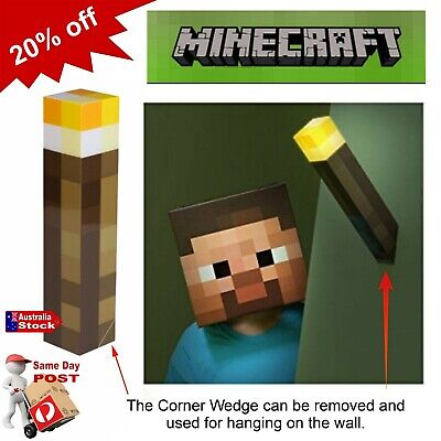 AU25.90 • Buy New Minecraft Hand Held Torch Wall Lamp Light Up Night Lighting Toys Video Game