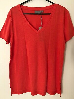 AU19.99 • Buy NWT SUSSAN CLOTHING Tango Red Relaxed V-Neck Tee S