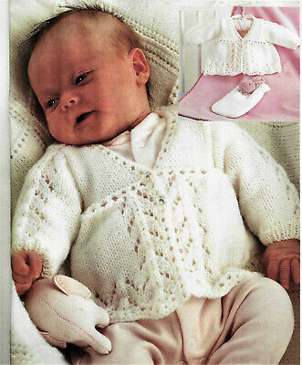 £2.79 • Buy Baby Knitting Pattern For Matinee Coat In DK, SIZES 10-16'' INCLUDES PREM B12