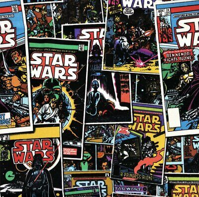 £6.99 • Buy FS598_4 Star Wars Comic Book Crafting Dress Masks Cotton Fabric 44  Wide