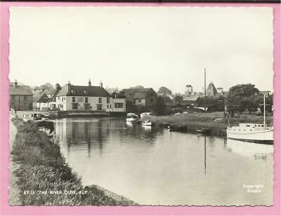 The River Ouse, Ely, Cambridgeshire Postcard. Real Photo. Frith. • 4.49£