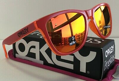 AU125 • Buy Oakley AUTHENTIC Frogskins Sunglasses ✦ OO9245-7254 Matte Red Grips/Prizm Ruby