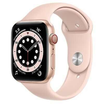 AU700 • Buy Apple Watch 6 GPS + Cellular 44mm Gold Aluminium Pink Sport Band NEW RRP $799