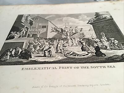 William Hogarth,  1833 Antique Engraving Print - The South Sea 'Bubble' • 8£