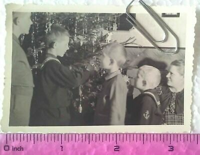 WW2 Orig. Photo German Kids In Uniforms Sailors Lady 2.5 X 3.5 Inch • 0.99£