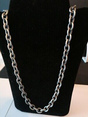 Mens Chain With Leather  Necklace Weekend  Man Clubbing Party  Xmas Gift • 6.50£