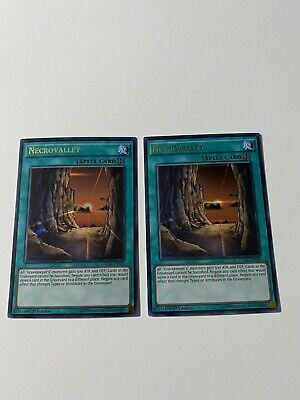 YuGiOh! 2 X Necrovalley DUSA-EN050 1st Edition Ultra Rare NM+ • 7.49£