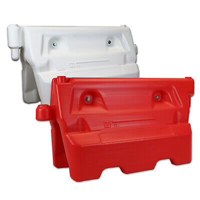 1-Meter Heavy Duty Water Filled Traffic Barriers - Red & White - Road Safety • 34.99£