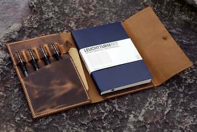AU59.67 • Buy Personalized Leather Cover Case For A5 Bullet Journal Leuchtturm 1917 Notebook