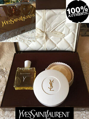 BEYOND SUPER RARE YSL Y VINTAGE EauDe TOILETTE&SOAP With POUCH LUXURY GIFT BOXED • 150£