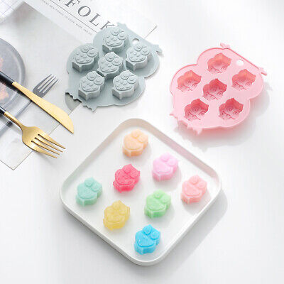 3D OWL Silicone Cake Fondant Sugarcraft Mold Wax Clay Soap Candle Making Mould • 3.25£
