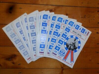 £2.25 • Buy 1978-79 CHESTER FC HOME FOOTBALL PROGRAMMES - Your Choice - FREE Postage
