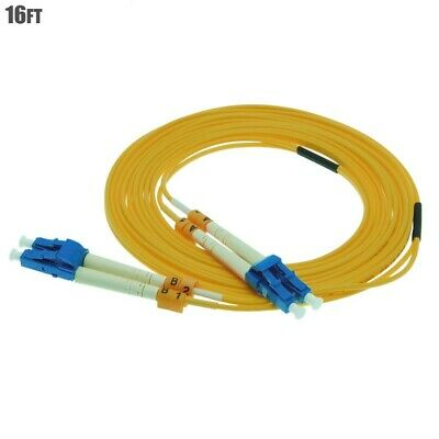 $11.55 • Buy 5M 16FT LC To LC Duplex Single Mode 9/125 Fiber Optic Optical Patch Cable Cord