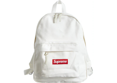 $ CDN189.79 • Buy Supreme Canvas Backpack White Box Logo FW20 2020 Rare Limited Red