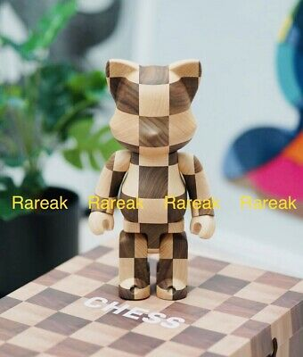 $1468.99 • Buy Medicom NY@brick 2020 Karimoku Wood Chess 400% Bearbrick NYbrick Queen's Gambit