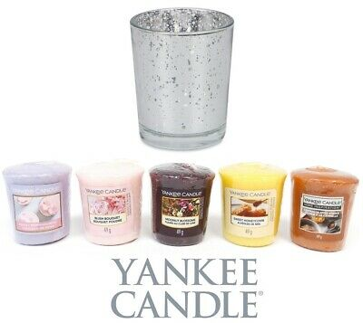 Yankee Candle Votives & Holder Set Winter Scented Room Fragrance New & Boxed • 14.49£