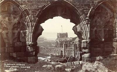 Real Photo Postcard Of St Mary's Church From Whitby Abbey, North Yorkshire, Ross • 15£