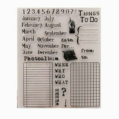 AU9 • Buy Transparent Silicone Month/Date Stamp Set For Card Making/scrapbooking