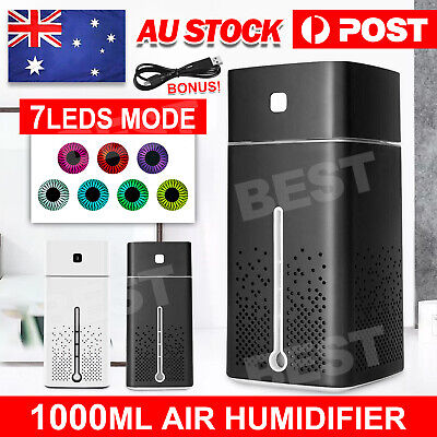 AU15.85 • Buy Aroma Aromatherapy Diffuser Essential Oil Ultrasonic Air Humidifier Purifier 1L