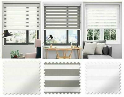 Day Night Roller Window Blinds- Fabric Home Office Easy Fit - Drop 160cm • 28.95£