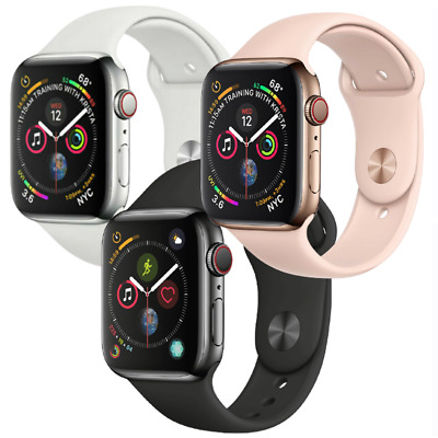 $ CDN317.61 • Buy Apple Watch Series 4 44mm GPS Cellular 4G LTE Stainless Steel Gold Space Black