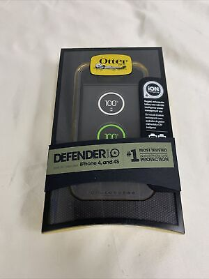 NEW OtterBox Defender ION Series Battery Case For IPhone 4/4S - Graphite • 13.55£